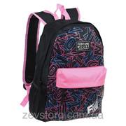 Рюкзак для девочки с малиновыми вставками