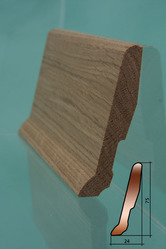 Европлинтус,  плинтус из натурального дерева (дуб,  сосна).