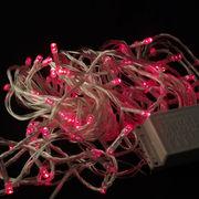 Гирлянда led100 на прозрачном проводе — красный,  100 лампочек