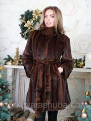 Полушубок халат норка махаон